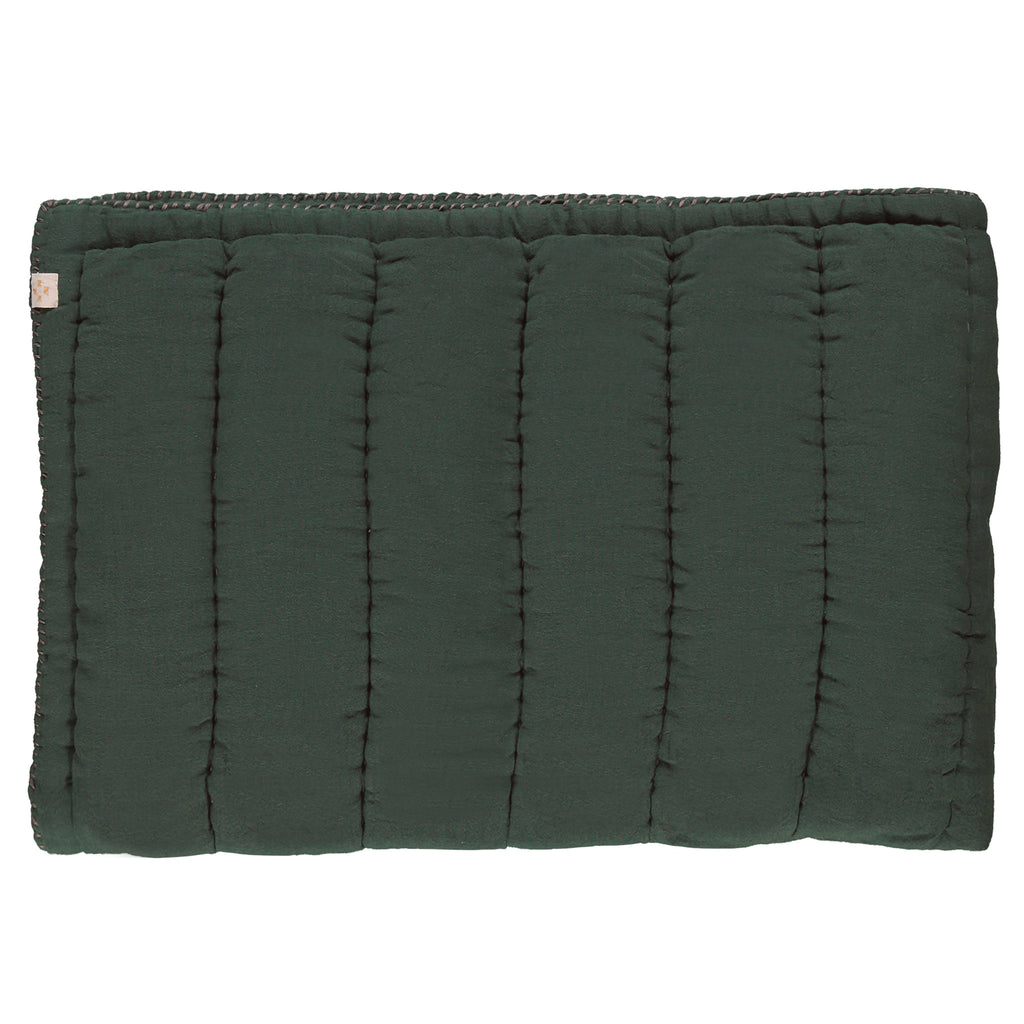 Hand Quilted blanket - Dark Green