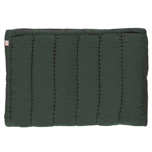 Hand Quilted blanket - Double/ King Dark Green
