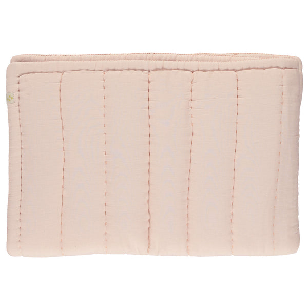 Hand Quilted blanket - Pearl Pink