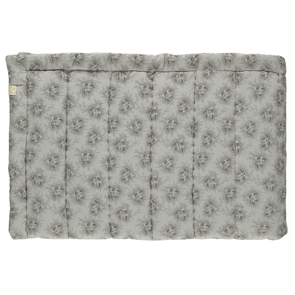 Spot Floral Chocolate Hand Quilted Blanket