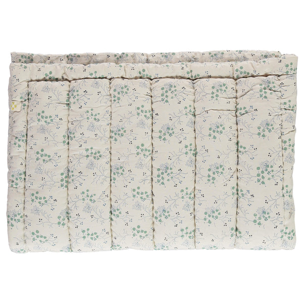 Minako Cornflower Floral Hand Quilted Blanket - Large Double