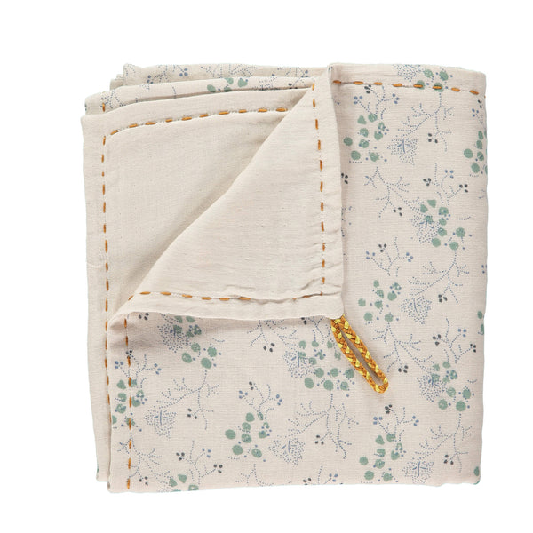 Double Layer Reversible Swaddle - Minako Cornflower/ Stone