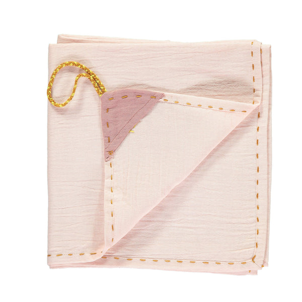 Single layer Swaddle blanket - Pink Pearl