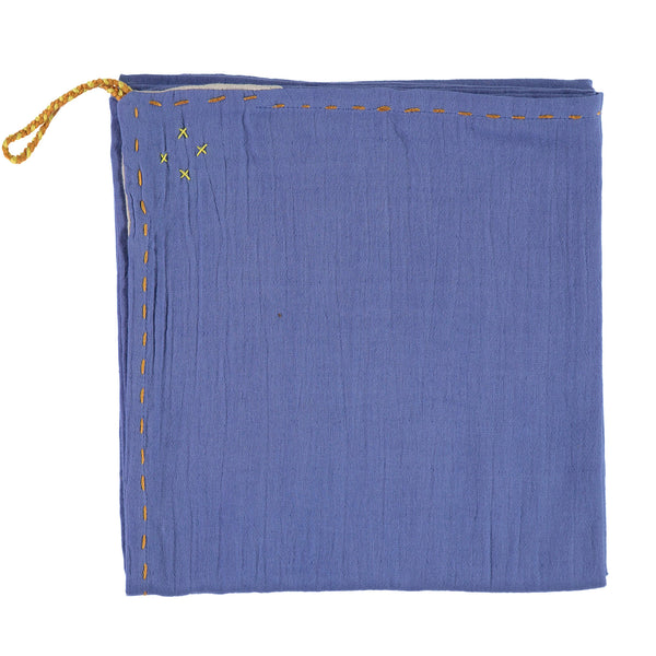 Single layer Swaddle blanket - Royal Blue
