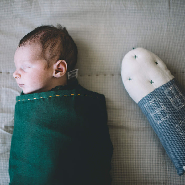 Single layer Swaddle blanket - Forest