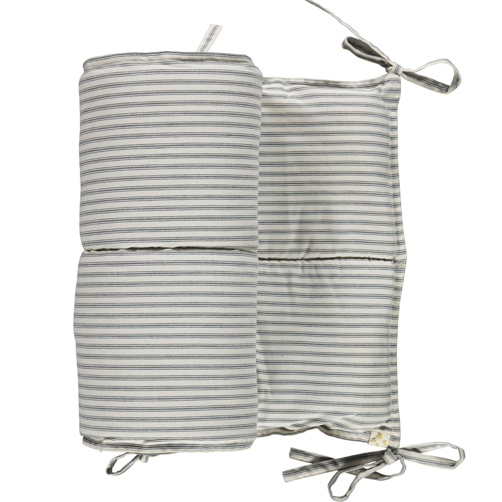 Charcoal Ticking Stripe Bumper