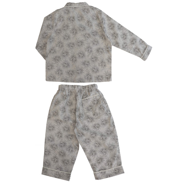 Spot Floral Chocolate Pyjama set