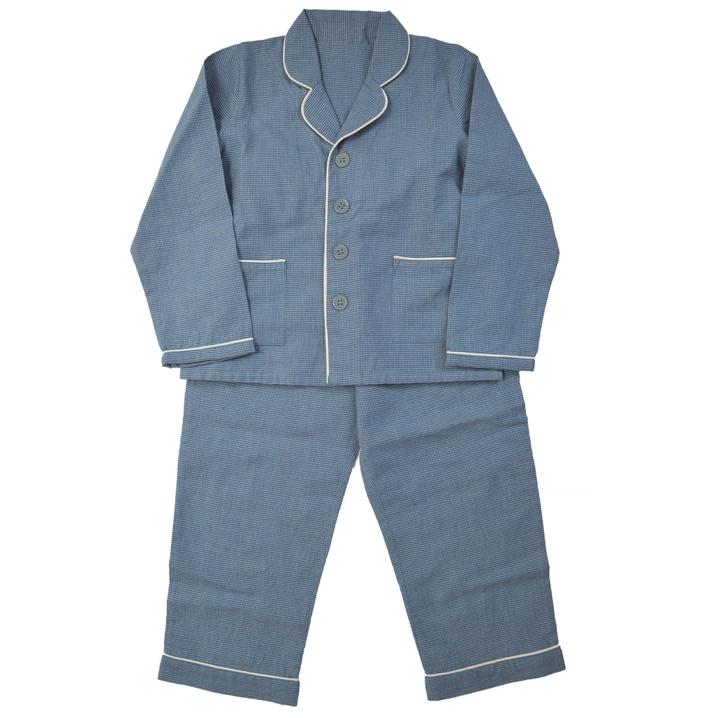 Mini Check Blue Unisex Pyjama set