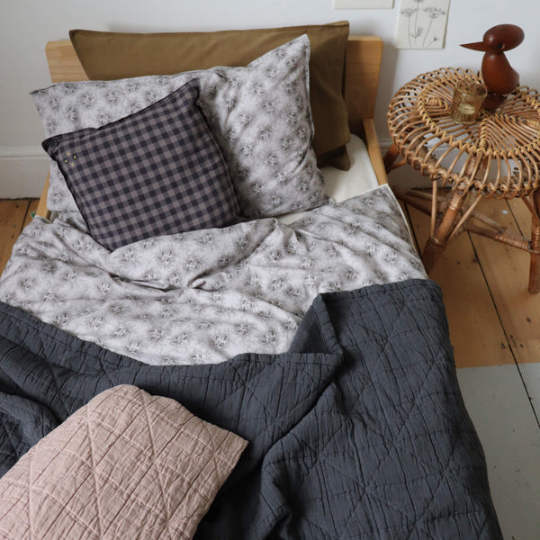 Diamond Soft Cotton Blanket - Charcoal