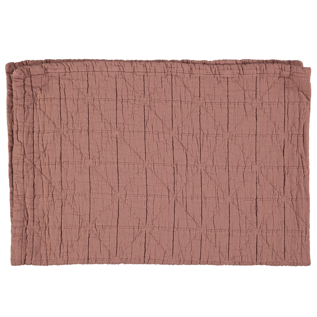 Diamond Soft Organic Cotton Blanket - Deep Clay
