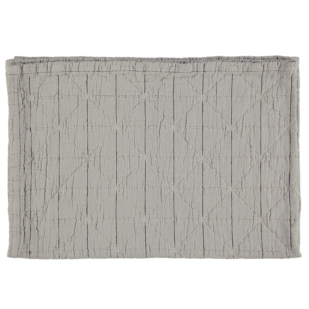 Diamond Soft Organic Cotton Blanket - Light Grey