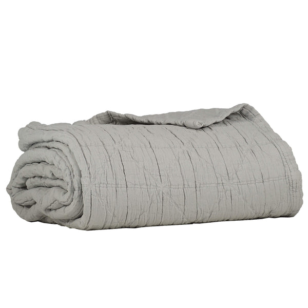 Diamond Soft Cotton Blanket - Light Grey