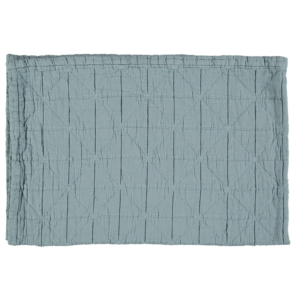 Diamond Soft Organic Cotton Blanket - Sky Blue