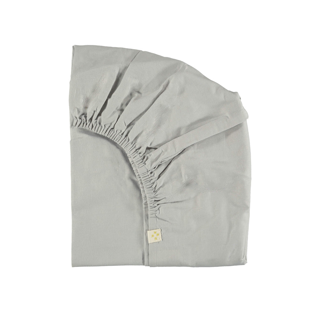 Feather Grey Organic Cotton Fitted Sheet -  Double/ EU King