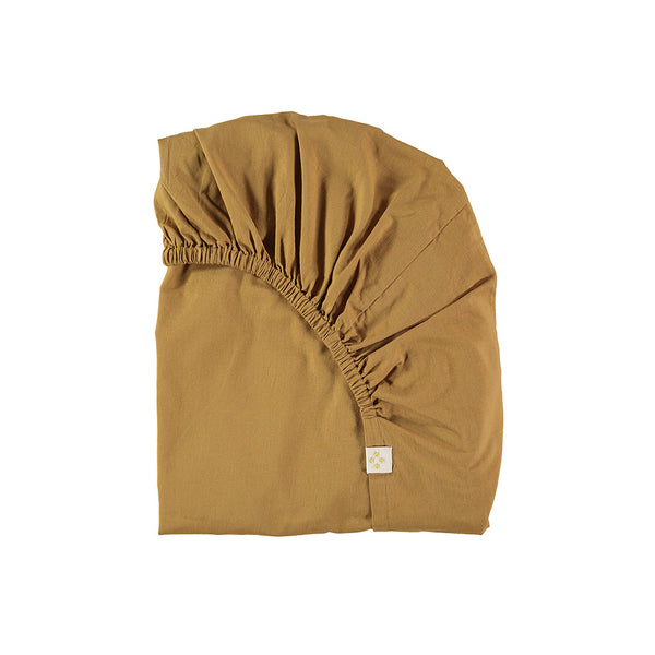 Organic Cotton Fitted Sheet - Ochre