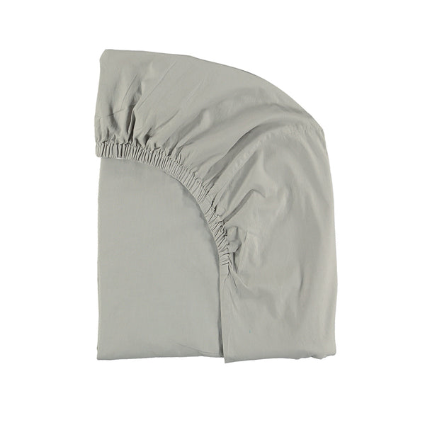 Cotton percale Feather Grey fitted sheet