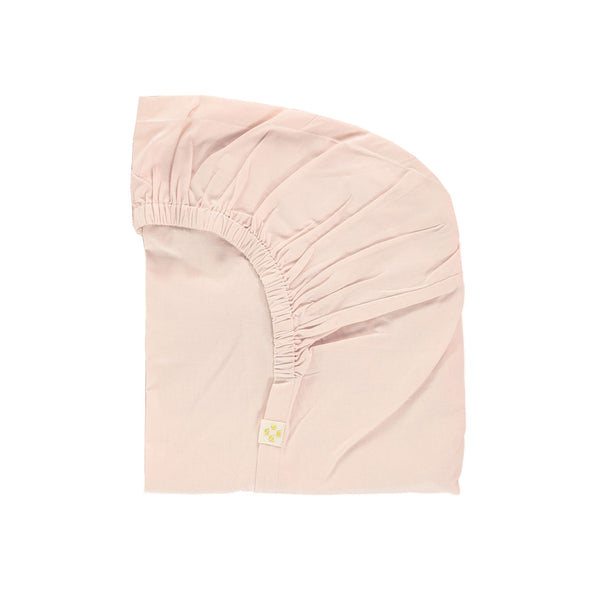 Pink Organic Cotton Fitted Sheet - Double/EU King