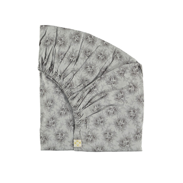 Spot Floral Chocolate Fitted Sheet