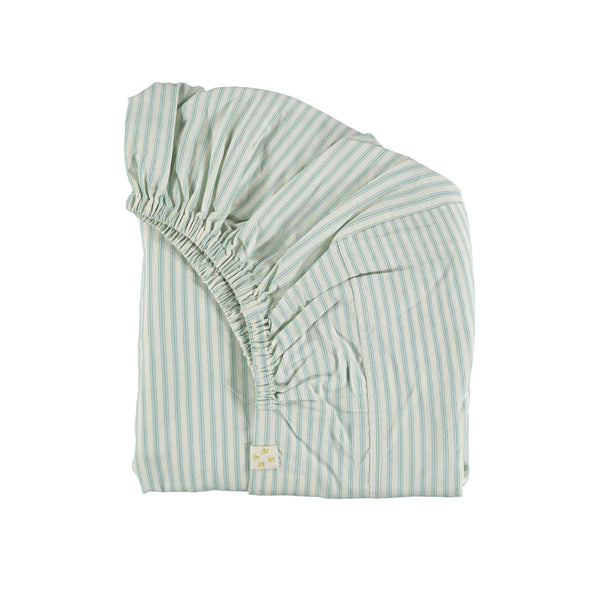 Marine Ticking Stripe Fitted Sheet