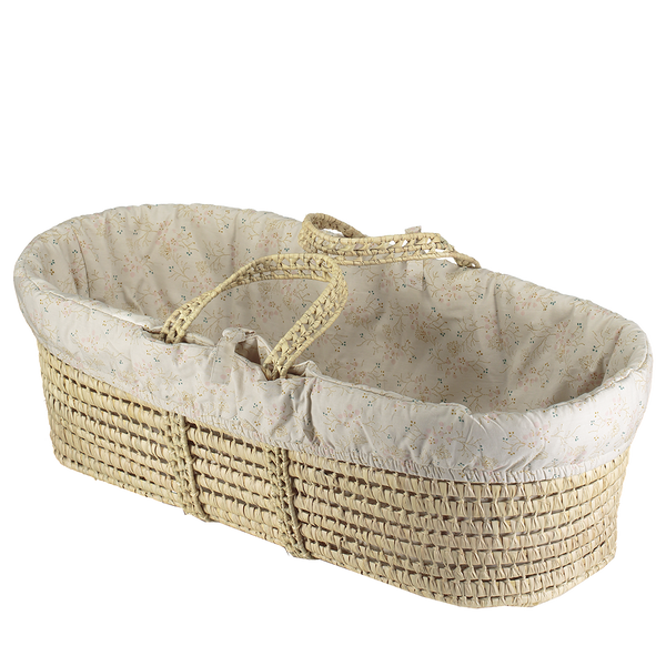 palm leaf moses basket set by camomile london
