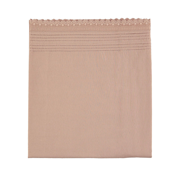 Pin Tuck Flat Sheet - Clay Pink