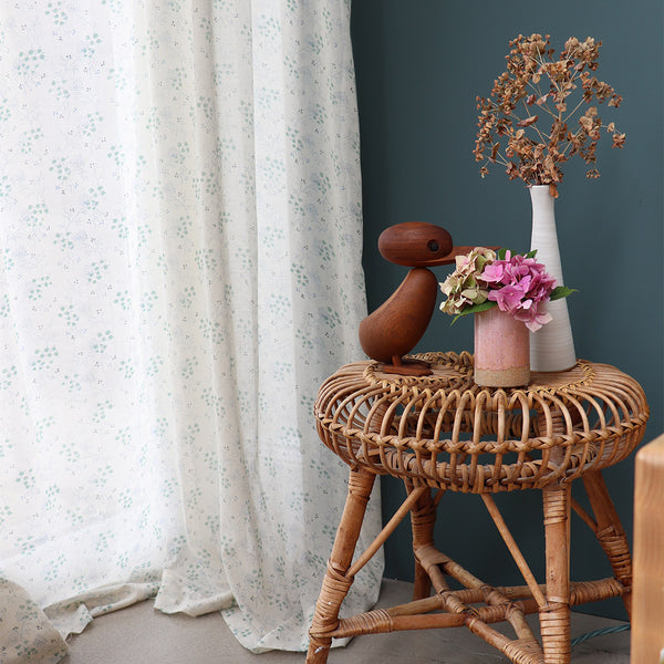 Minako Cornflower Voile Curtain