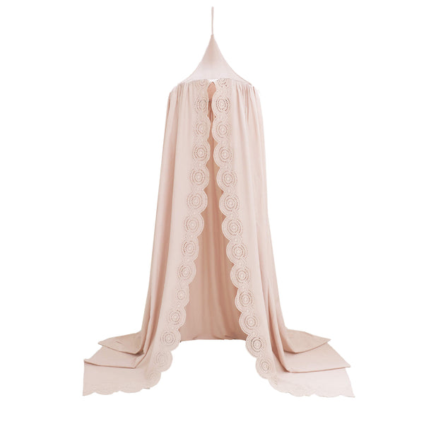 Scallop Embroidered Canopy - Pink