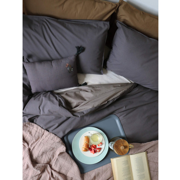 Graph Check Mocha/ Blue Duvet Cover
