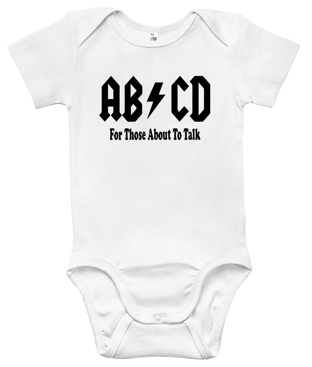 Baby Bodysuit - AB/CD - For Those About to Talk