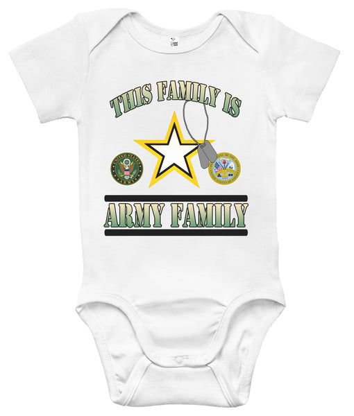 Baby Bodysuit - This Family Is Army Family