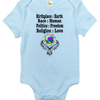 Baby Bodysuit - Earth Human Freedom Love