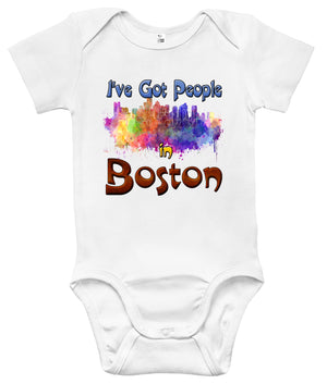 Baby Bodysuit - I've Got People in Boston