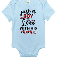 Baby Bodysuit - Just a Boy in Love with His Mama