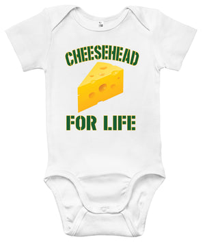 Baby Bodysuit - Cheesehead For Life
