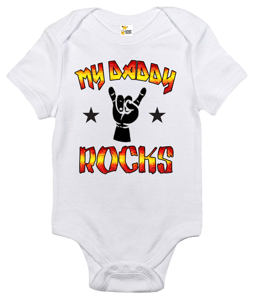Baby Bodysuit - My Daddy Rocks