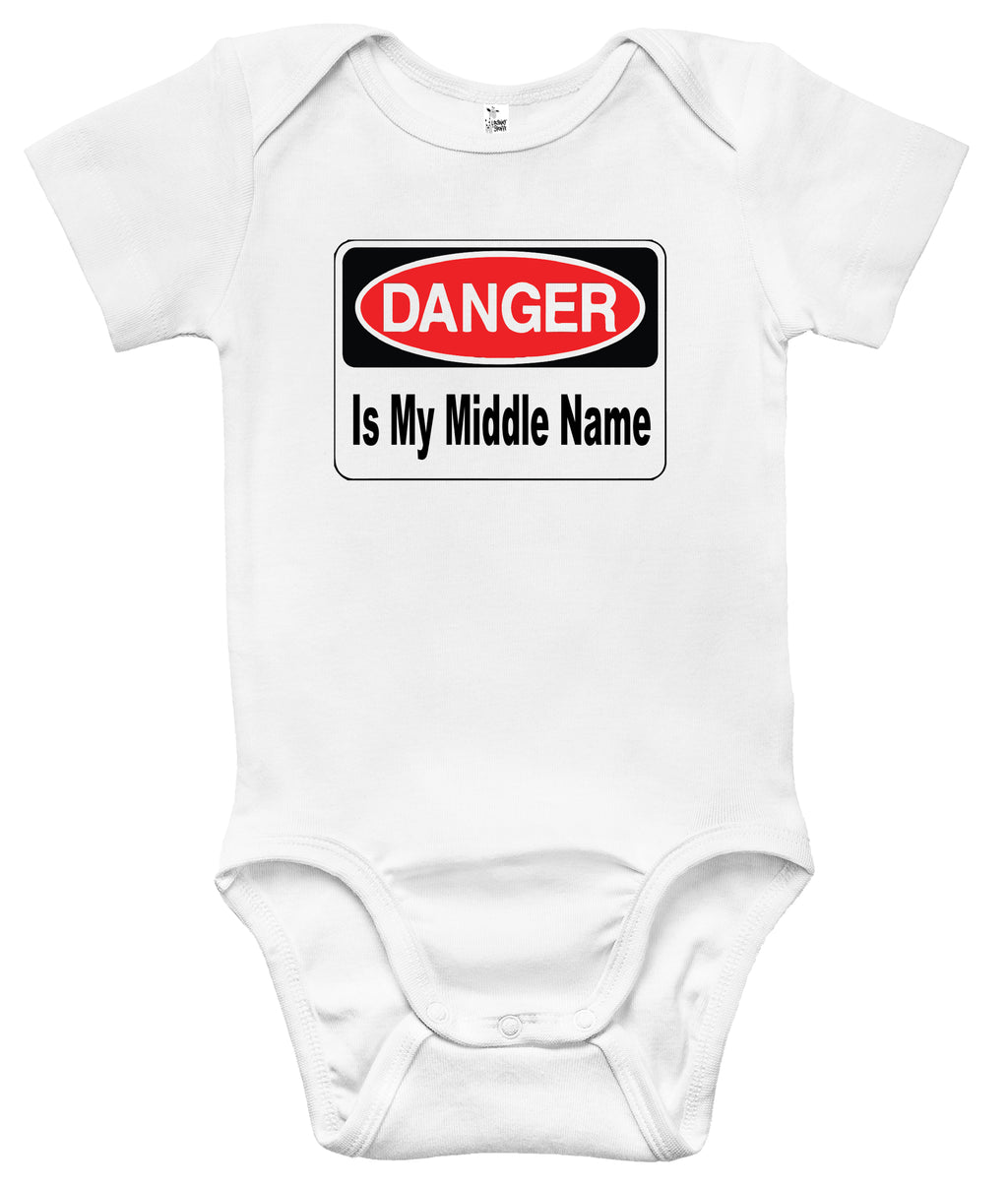 Baby Bodysuit - Danger Is My Middle Name