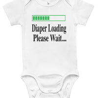 Baby Bodysuit - Diaper Loading, Please Wait