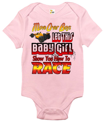 Baby Bodysuit - Let This Baby Girl Show You How To Race