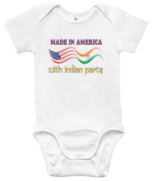 Baby Bodysuit - Made in America with Indian Parts