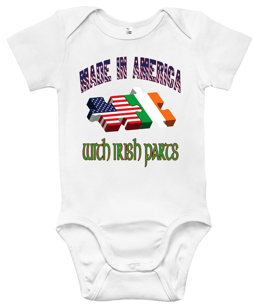 Baby Bodysuit - Made in America With Irish Parts