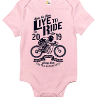 Baby Bodysuit - Ride to Live, Live to Ride