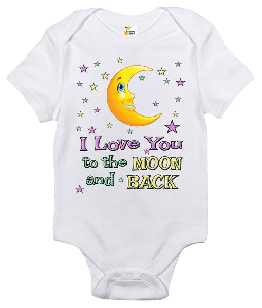 Baby Bodysuit - I Love You to the Moon and Back