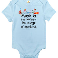 Baby Bodysuit - Music Is The Universal Language of Mankind