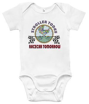 Baby Bodysuit - Stroller Today Racecar Tomorrow
