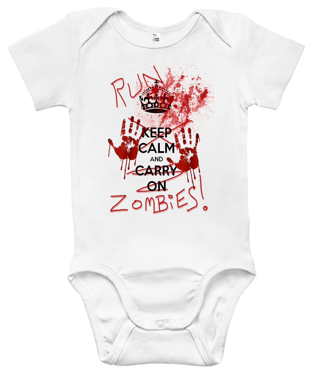 Baby Bodysuit - Run Zombies