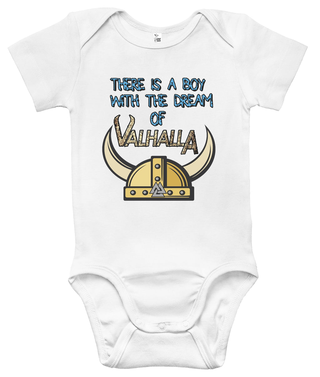 Baby Bodysuit - There Is a Boy with the Dream of Valhalla Viking