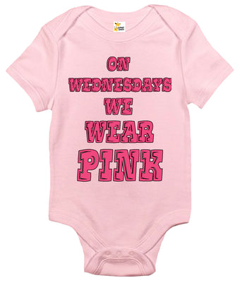 Baby Bodysuit - On Wednesdays We Wear Pink