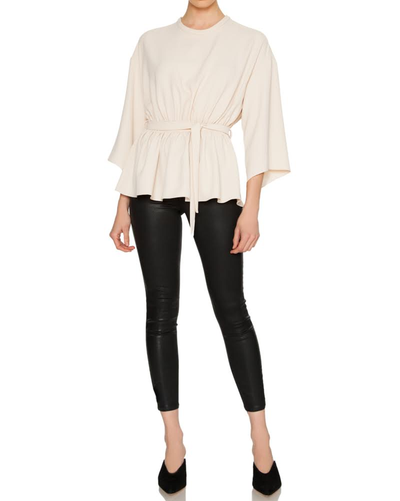 Zone Crop Bell Sleeve Blouse