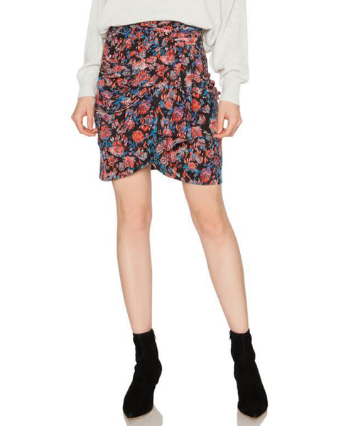 Sway Floral Silk Mini Skirt