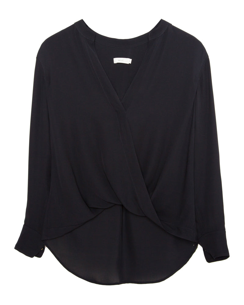 Luca Draped V Neck Top